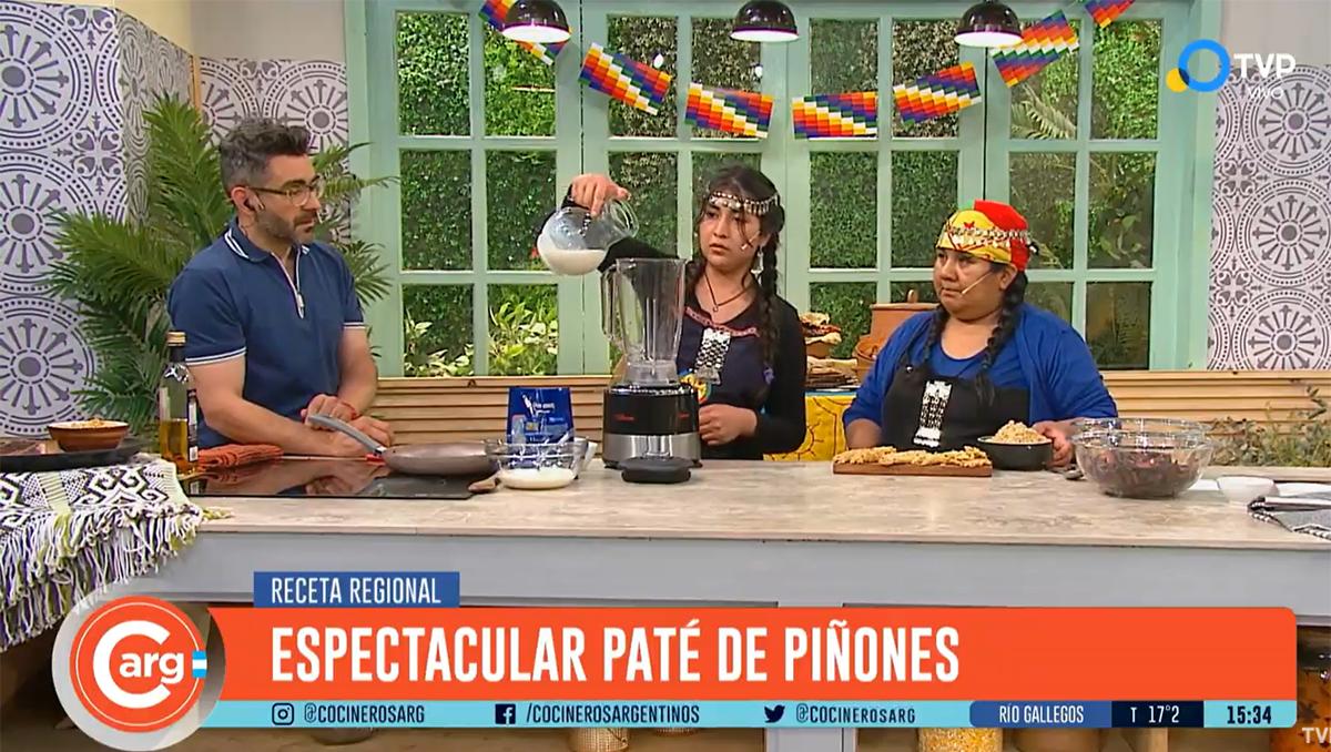 la cocina mapuche dijo presente en la tv publica