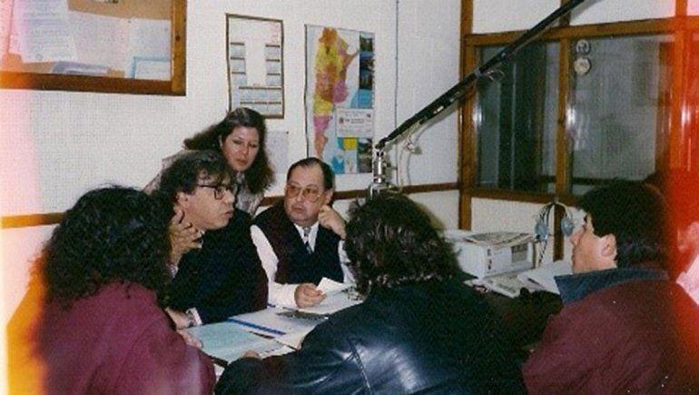 Osvaldo Arabarco, Adela Galán con Enrique Pinti.