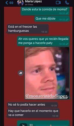 Jimena Barón publicó un gracioso chat con la niñera de su hijo