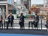 Fernández inauguró una central térmica de YPF en La Plata