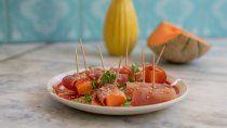 receta super facil para el verano: melon con jamon
