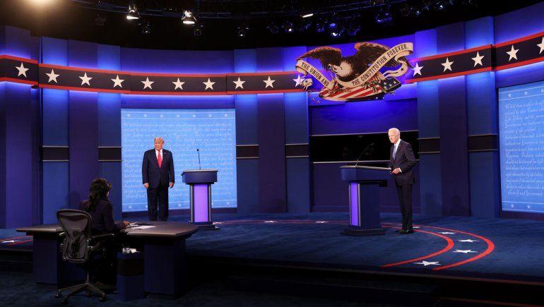 Con más orden y acusaciones, Trump y Biden se cruzaron en el último debate