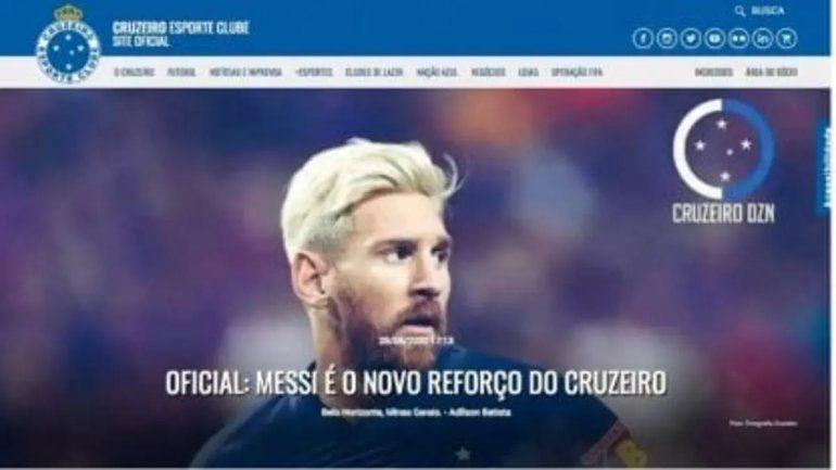 ¡Un gigante de Brasil anunció la contratación de Messi!