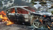 un auto incendiado y varios despistes en el arranque de la temporada