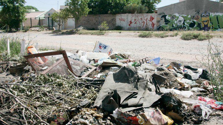 Los microbasurales proliferaron tras el paro de los municipales.