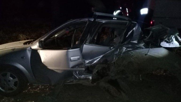 Las Lajas: chocaron su auto desde atrás y murió en el acto