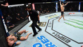 ufc: impresionante knockout a mcgregor con 15 pinas en 16 segundos