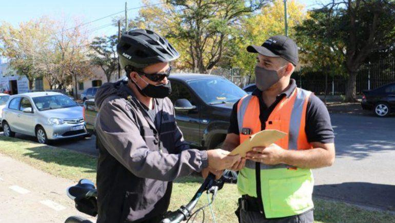 Sigue la campaña de concientización a ciclistas neuquinos