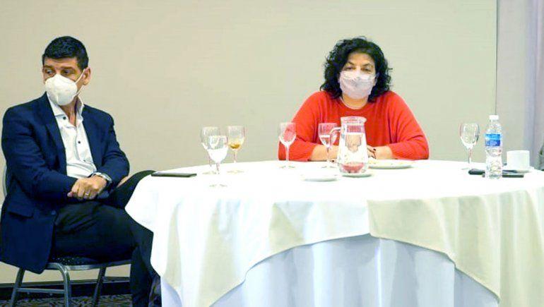 Peve y Vizzotti se reunieron con los jefes y jefas de las zonas sanitarias