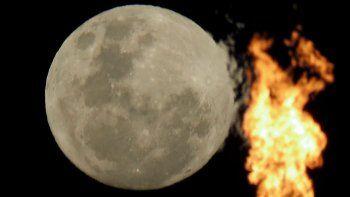 las fotos de la luna azul de halloween en neuquen