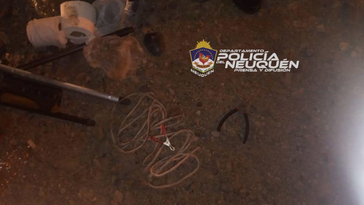cayeron otros jovenes roba cables en el barrio san lorenzo