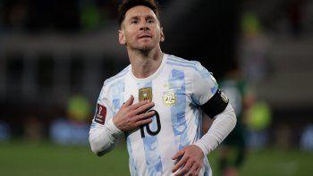 Argentina le ganó a Bolivia con hack-trick de Messi y un nuevo récord