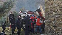 Sébastien Ogier protagonizó un fuerte accidente antes del arranque del Rally Mundial.