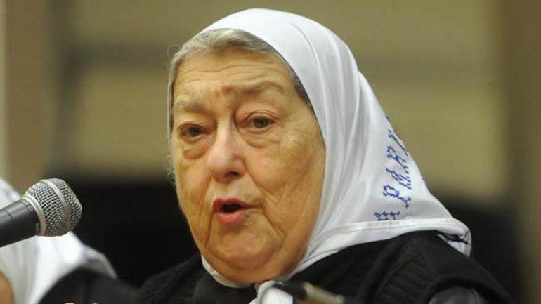 La titular de Madres de Plaza de Mayo advirtió al juez Bonadio.