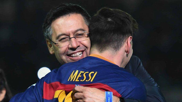 Bartomeu está dispuesto a renunciar si Messi se queda en Barcelona