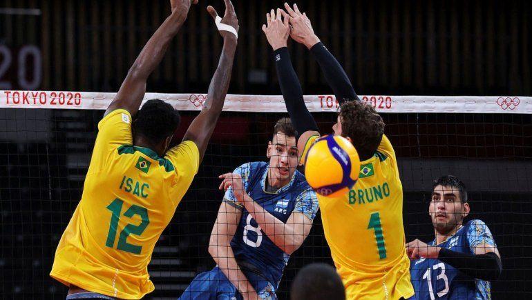 Vóley: Argentina no aguantó la ventaja y cayó ante Brasil