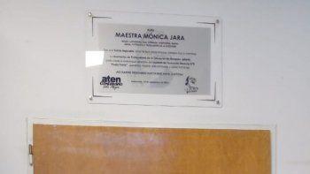 Un aula lleva el nombre de la docente fallecida en Aguada San Roque