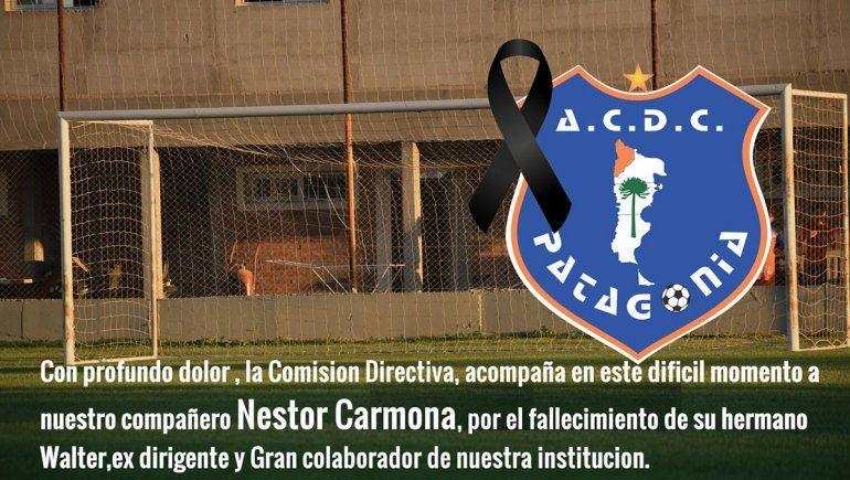 Duelo en Patagonia por una muerte que apena a todo el club