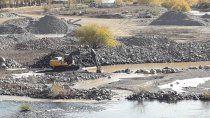 preocupacion por el bajo caudal de agua en el norte neuquino