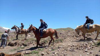 Visitan los puestos a caballo para prevenir la salud