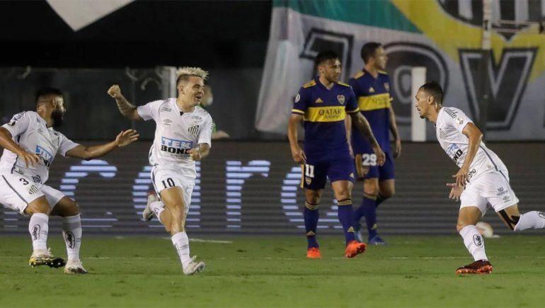 Santos goleó a Boca y la final de la Libertadores será brasilera