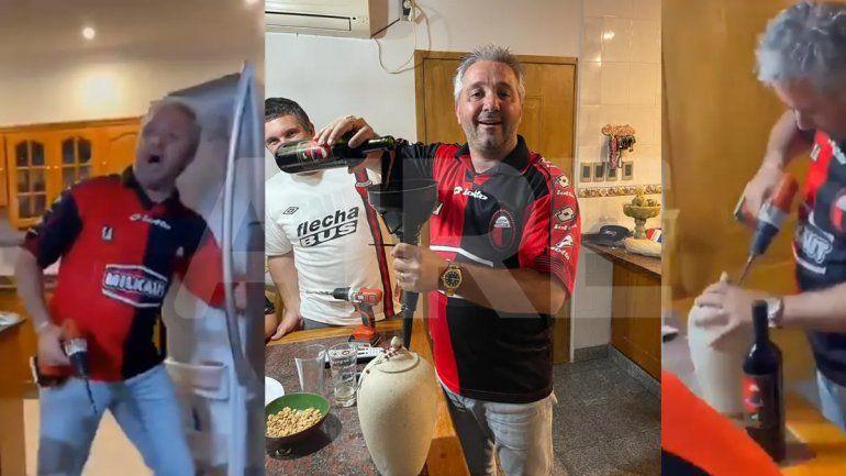 ¡Tomó vino con las cenizas de su abuelo para festejar juntos el campeonato!