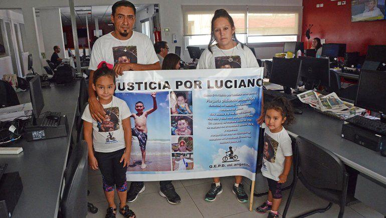 La familia de Lucianito quedó destrozada tras el brutal asesinato y no claudicaron en sus reclamos de justicia.