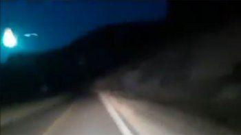 ¿meteorito?: viajaban por la ruta y una luz los sorprendio