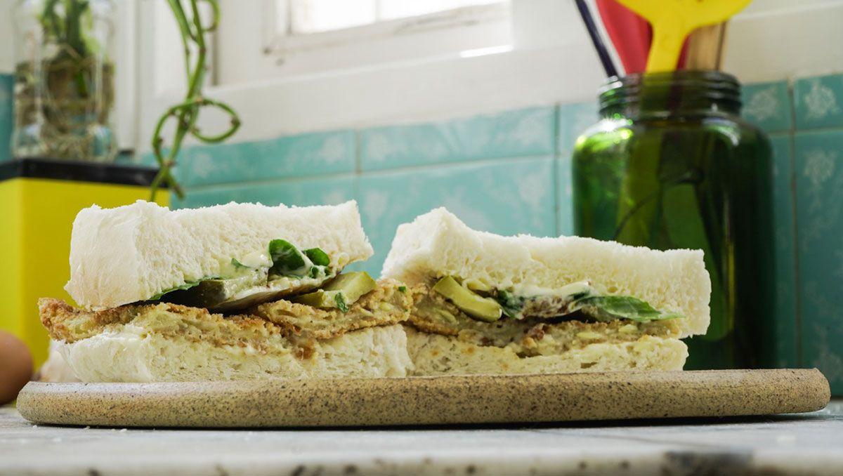 sandwich veggie de zucchini, facil y muy rico
