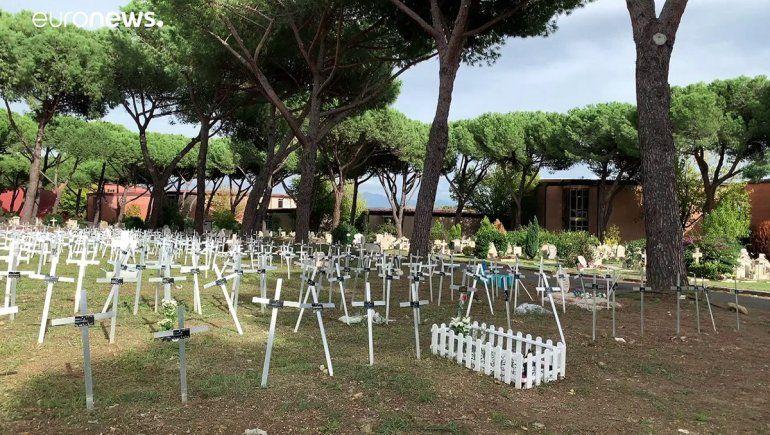 Denuncian entierros de fetos abortados en Roma