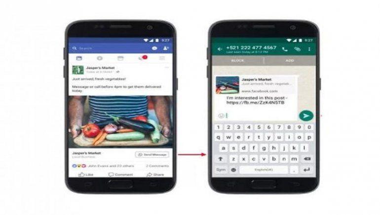 Las empresas que usen WhatsApp Business podrán vincularse a los catálogos de Facebook sin que los clientes abandonen el chat.