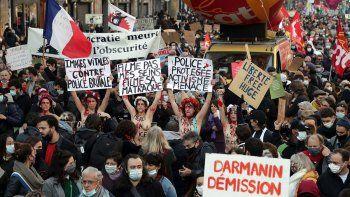 protestas contra la ley de seguridad de francia