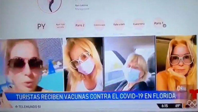 En Miami critican a Yanina Latorre por aprovecharse de la vacunación de Estados Unidos