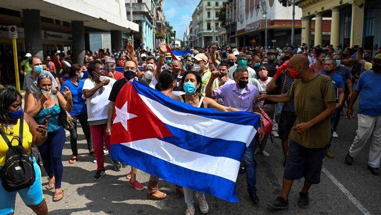 El presidente de Cuba culpó a Estados Unidos por las protestas