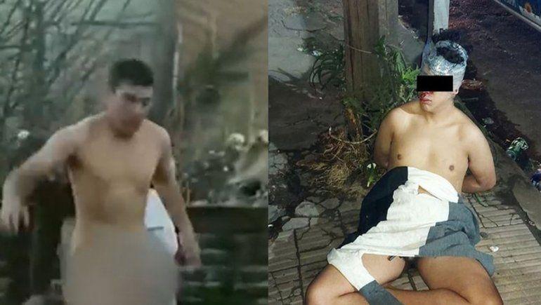 Lincharon a dos ladrones: un menor terminó desnudo atado a un poste