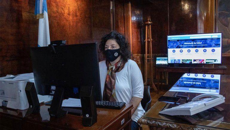 Vizzotti viene a examinar las medidas de Neuquén y Río Negro