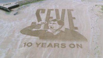 mira la espectacular obra en la playa para homenajear a severiano ballesteros
