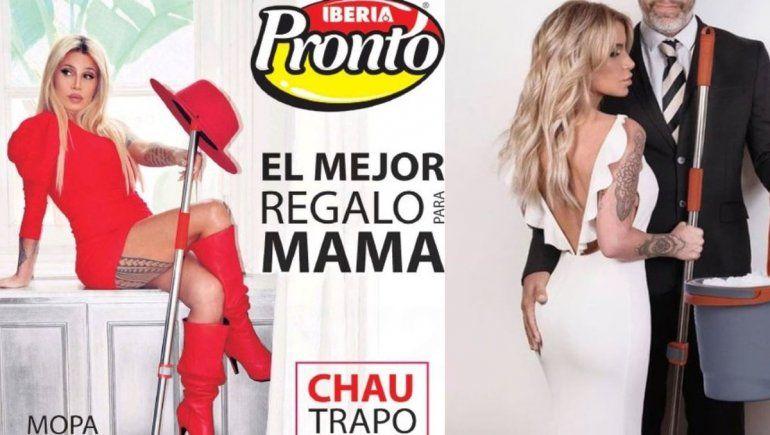 El aviso con la imagen de Flor Peña que generó polémica en las redes.