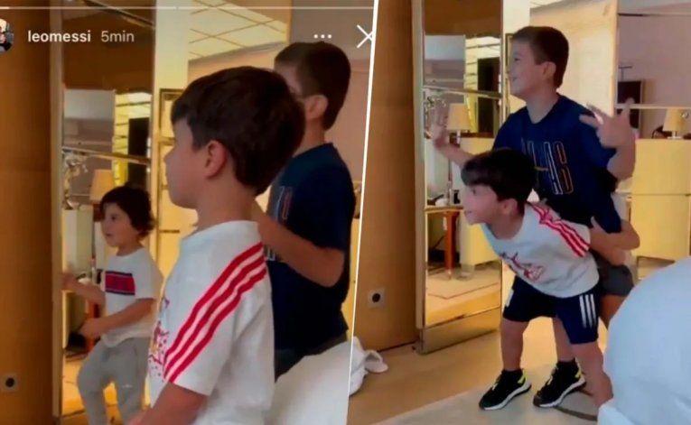 El pogo más tierno: los hijos de Messi a pleno con Bizarrap