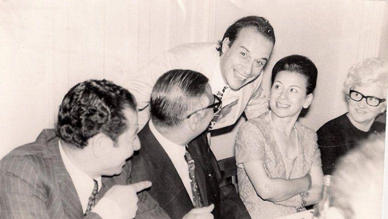 Don Pastor con Dr. Del Vas, Dr. Solanas y esposa.