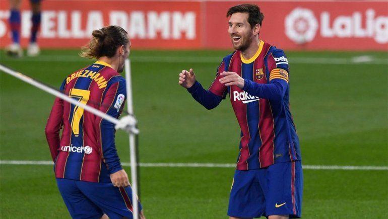 Con un golazo de Correa, Atlético Madrid recuperó la punta y el doblete y solidaridad de Messi