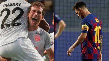 El volante alemán gozó a Messi.