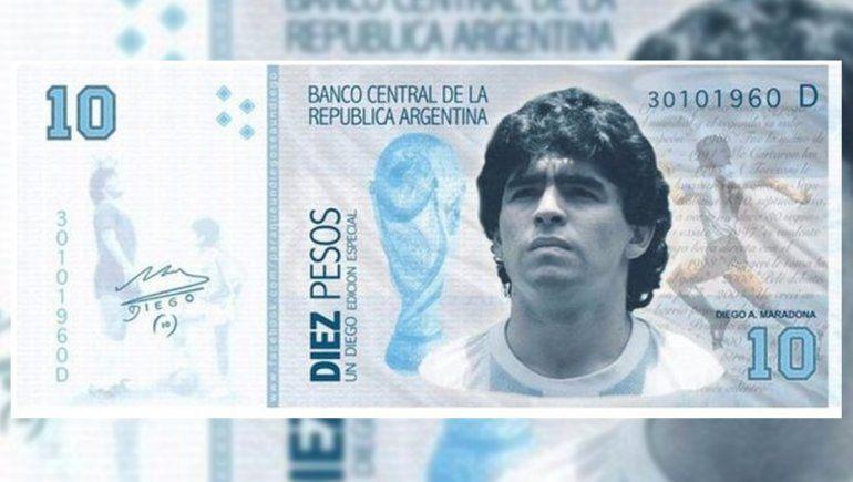 Llega al Congreso el proyecto para que billetes de $1.000 lleven al Diego