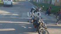 un bebe viajaba con su madre en moto y murio