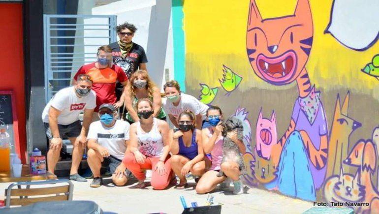 La lucha por los animales ya tiene su propio mural
