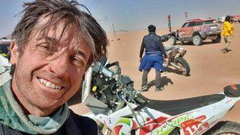 dolor por la tragica muerte de un piloto en el dakar