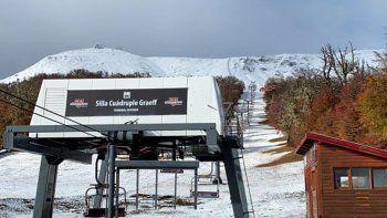 asi esta el cerro chapelco tras la primera nevada del ano