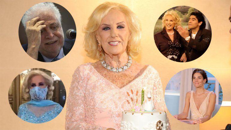 En su cumple 94, Mirtha habló de todo: vacunatorio VIP, su regreso a la TV y la muerte de Diego