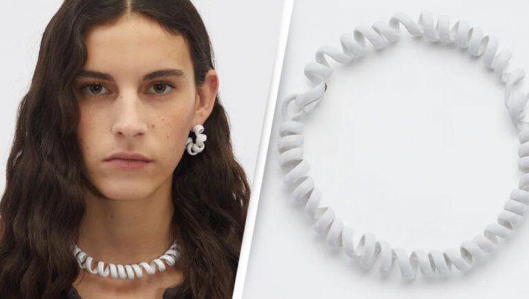 Moda en Twitter: ¿un collar de cable telefónico?