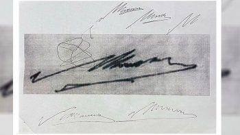 se filtraron los documentos en los que luque habria falsificado la firma de maradona